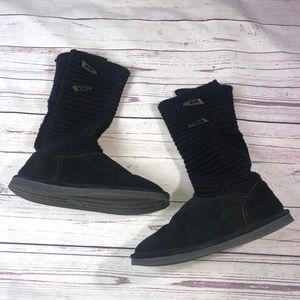 BEARPAW BLACK BOOTS, GUC
